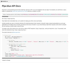 Discontinued] Pipe blue - The free link shortener for developers