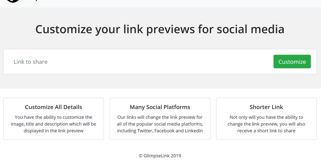 GlimpseLink - Customize your link previews for social media | Product Hunt