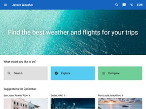 Jetset Weather - Find the best weather and flights for your trips