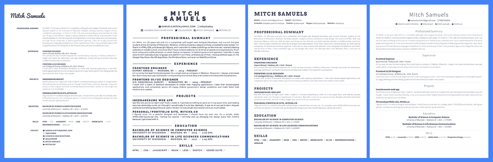 how to make a resume visually appealing