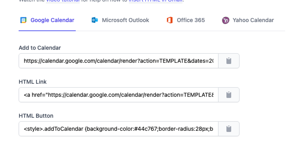 Remove google calendar from slack