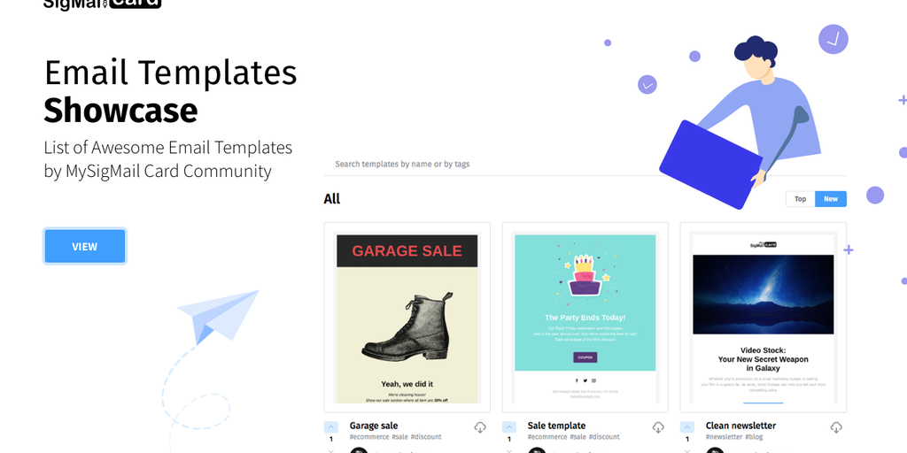 Email Templates Showcase - Platform for all to share their