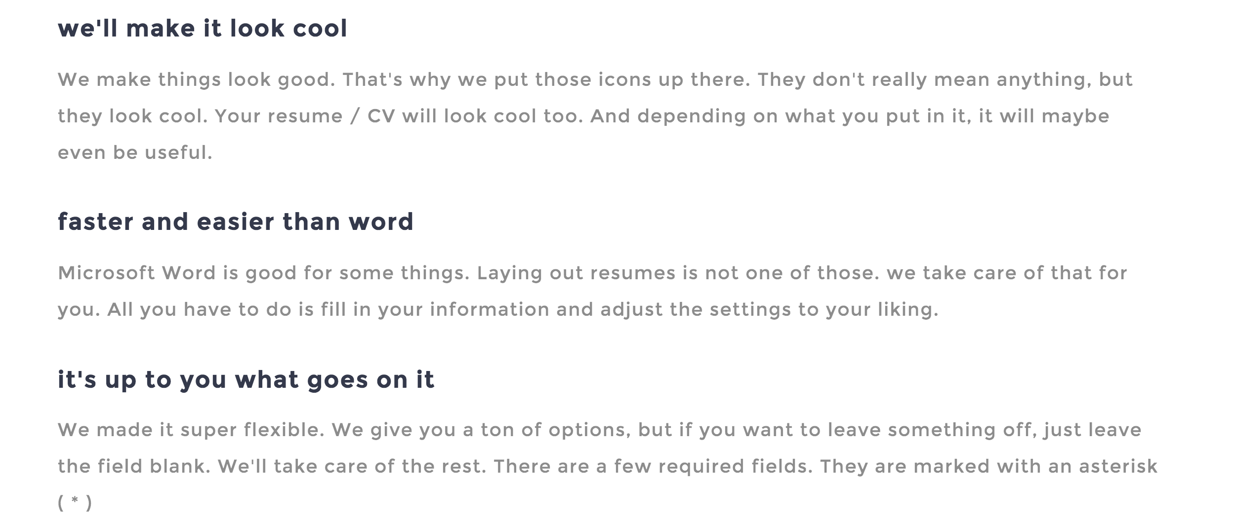 need a resume
