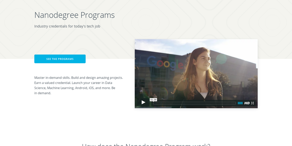 Udacity Nanodegrees - Industry-Recognized Credentials for