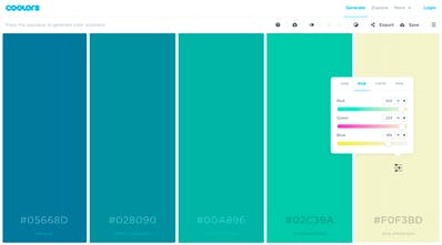 Coolors - Super fast color schemes generator for cool