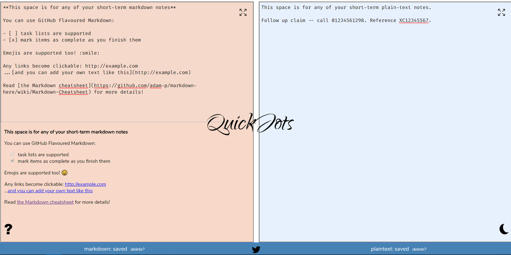 QuickJots - Jot down & auto-save quick notes, in markdown or plain text | Product Hunt