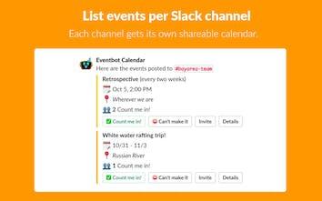 Eventbot Calendar for Slack - Create events directly inside