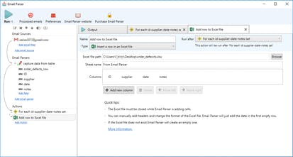 Email Parser - Extract data from incoming emails and