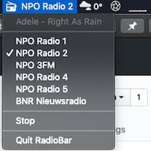 RadioBar - Open source macOS menubar app to listen to