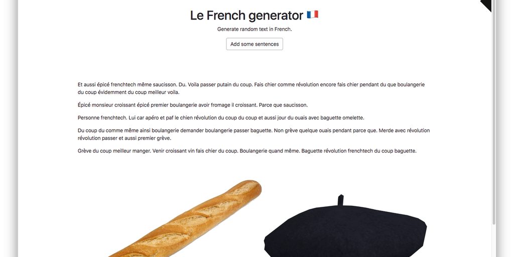 Le French generator - Generate random text in French