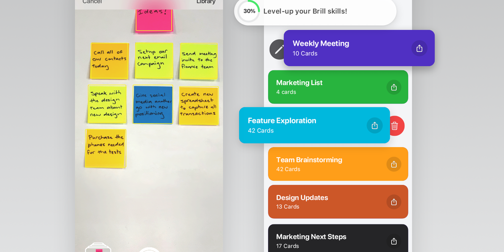 Brill 2.0 - From sticky notes to anywhere 200x faster than typing | Product Hunt