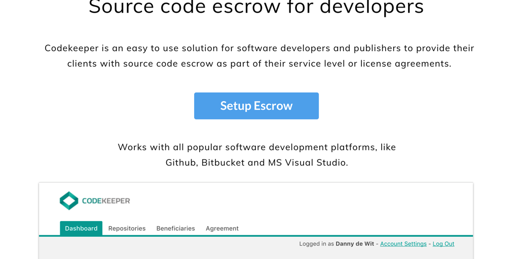 Codekeeper 20 Source Code Escrow For Developers Product Hunt
