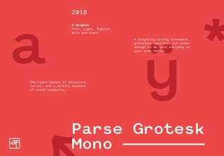 Parse Grotesk Mono - A programming font with a bit of personality