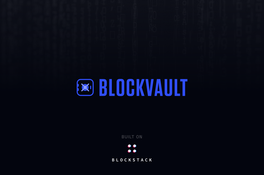 Blockvault - 🔐Decentralized password manager for teams built on Blockstak