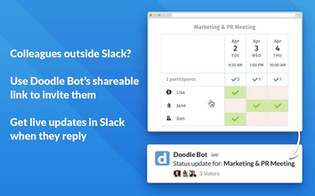 Doodle Bot for Slack - Simple tool to find meeting times on