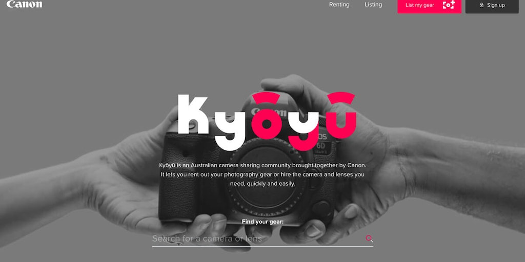 Kyōyū - Camera sharing community brought together by Canon | Product