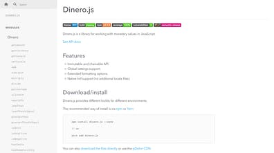 Dinero js - An immutable JS library for working with