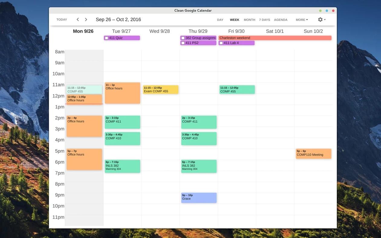 Clean Google Calendar Makes Google Calendar Look Nicer