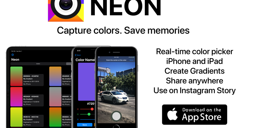Neon - Real-time color & gradient picker | Product Hunt