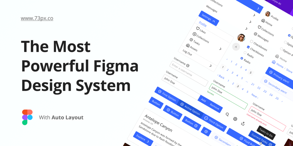 73px Figma Design System - A figma-first design system and wireframe builder | Product Hunt