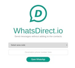 WhatsDirect - Text people without adding them to your contacts