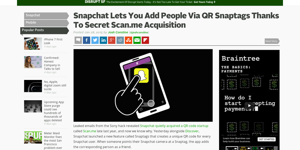 Snaptags - Follow people/brands on Snapchat via QR codes | Product Hunt