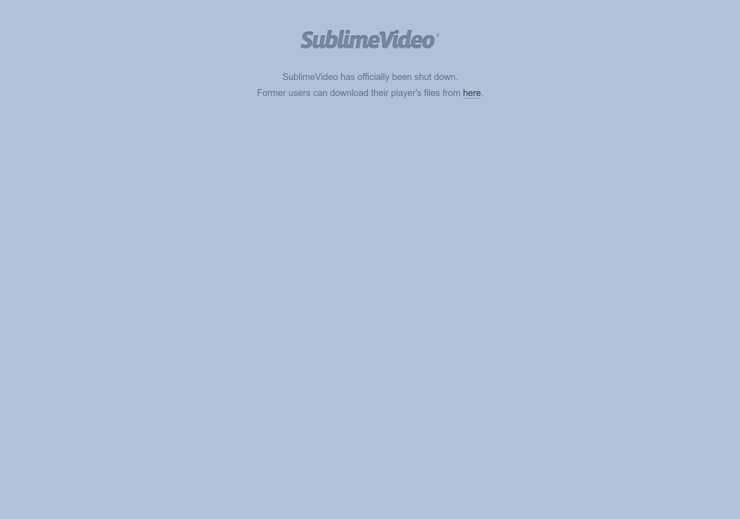Sublime Video Player - Free Responsive HTML5 Video Player