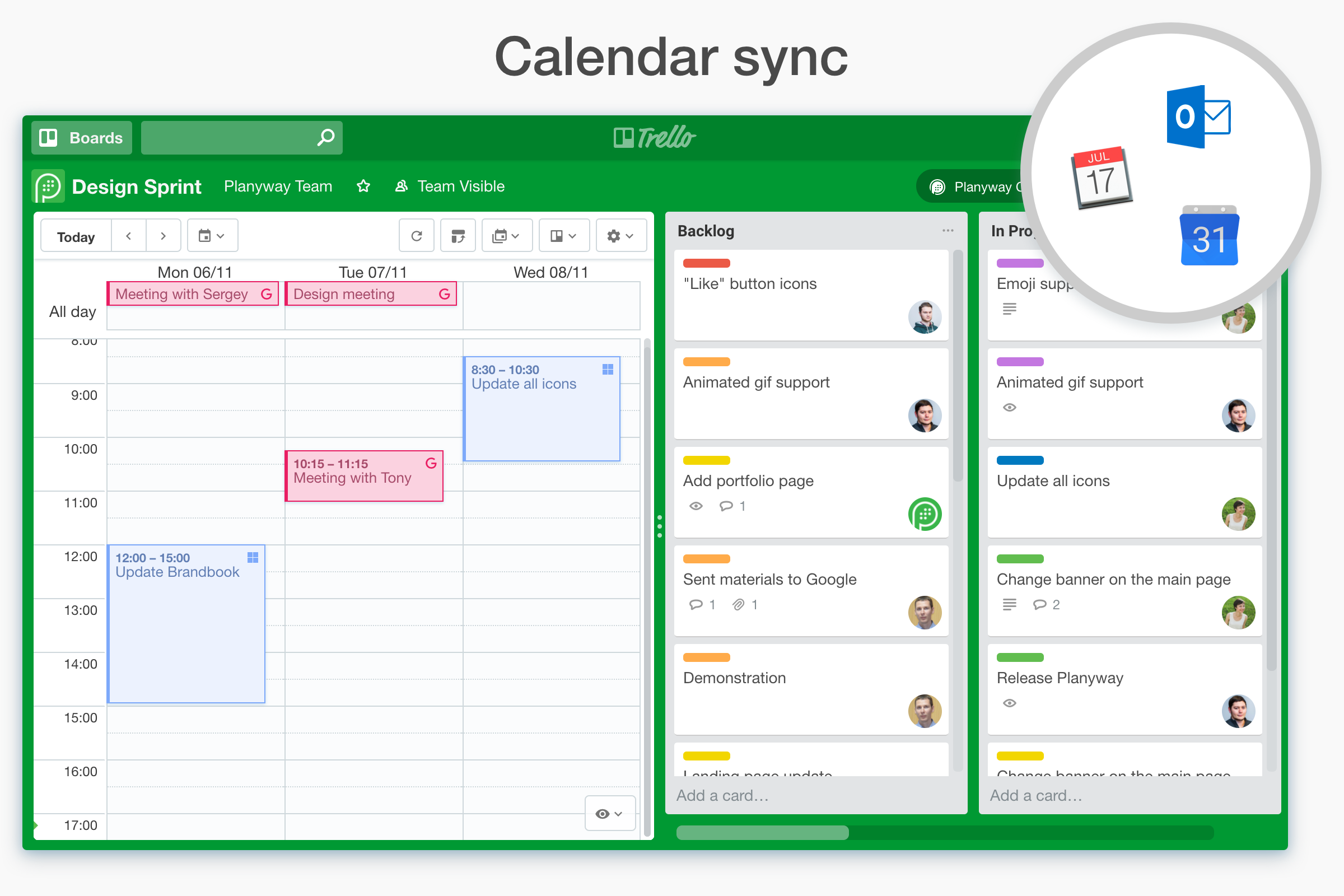 Planyway - Google Calendar inside your Trello