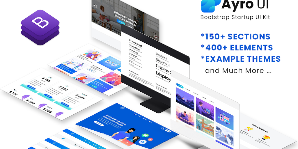 Ayro UI - Bootstrap UI Kit for startup and SaaS business | Product Hunt