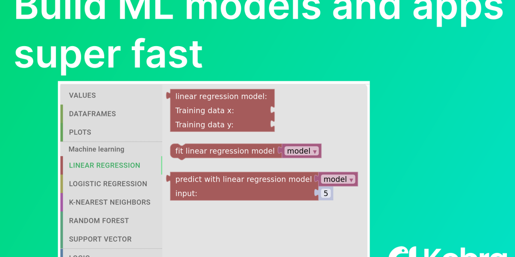Kobra - Visual programming for machine learning, like Scratch | Product Hunt