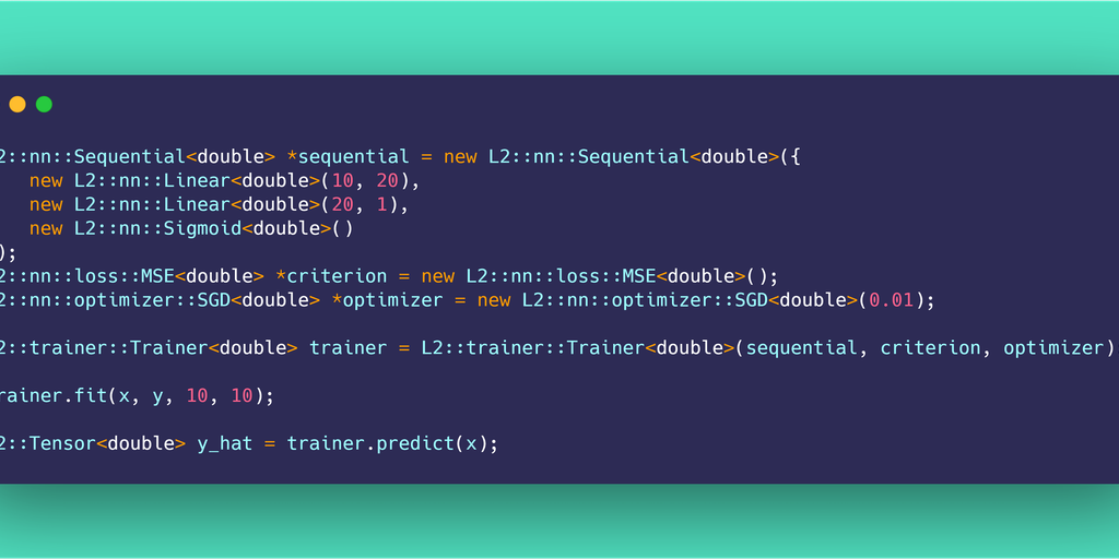 L2 - A deep learning library implemented from scratch in C++ | Product Hunt