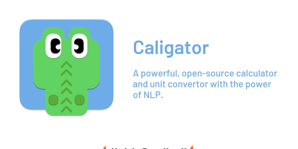 Caligator - An open-source calculator & convertor that thinks like you | Product Hunt
