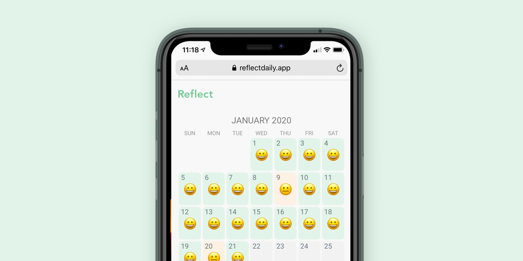 Reflect - Keep track of your mental health with daily ratings & notes | Product Hunt