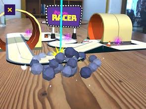 Room Racer AR - Miniature multiplayer AR racing game for iOS