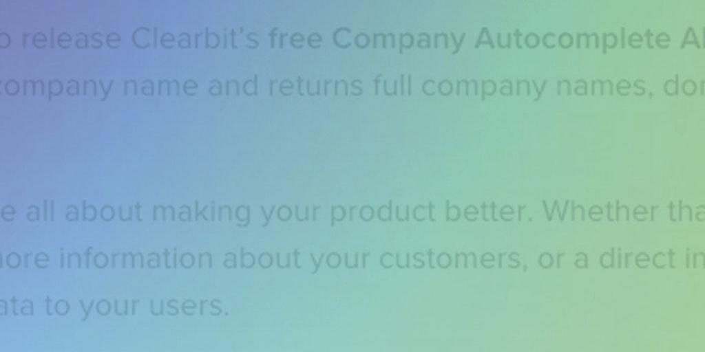 Clearbit's Free Company Autocomplete API - Never type