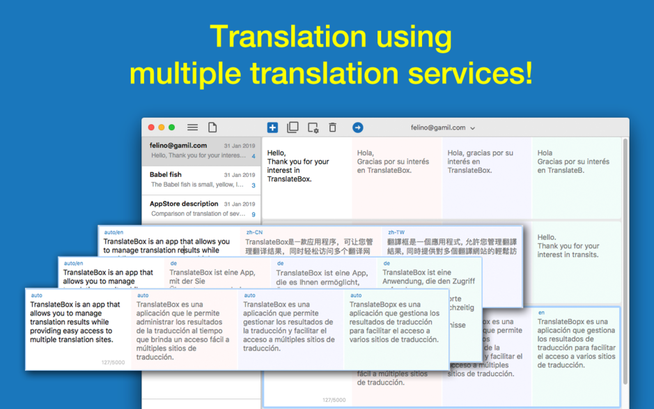 Translate Box - Translator using multiple translation services for OS X