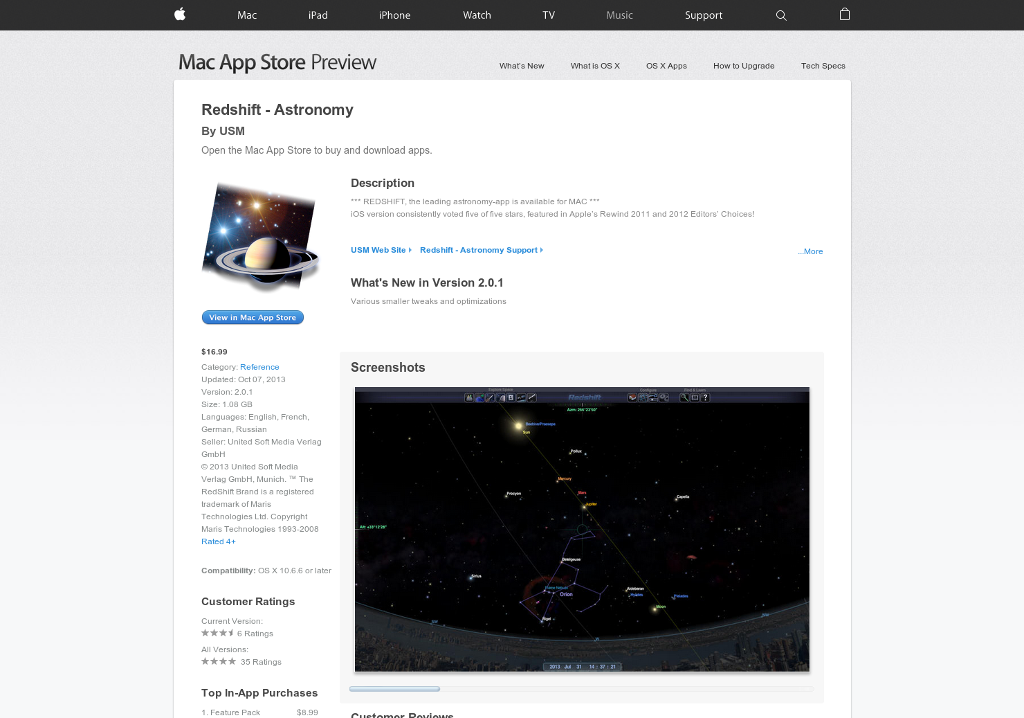 Redshift - Fly around the galaxy on your Mac | Product Hunt