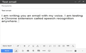 Speech Recognition Anywhere - Use your voice to fill out forms and
