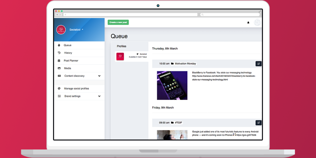 Socializd Beta - The tool for managing your brands' social