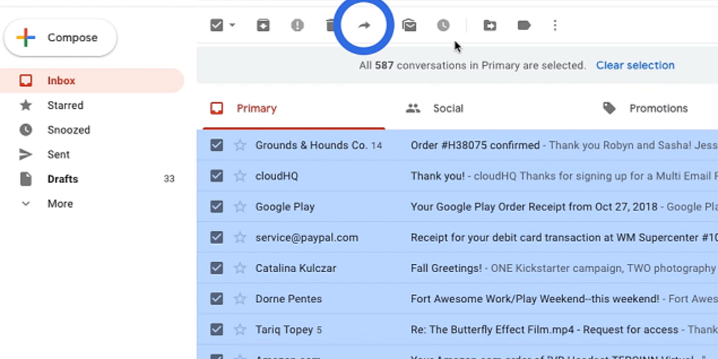 Multi Email Forward by cloudHQ 2.0 - Automate forwarding all your Gmail emails to another email | Product Hunt