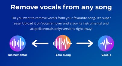 VocalRemover - Remove vocals from a song leaving only the background