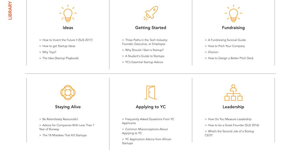 Startup School 2018 - Y Combinator's free online course for