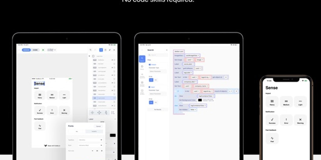 Kodika.io - Build powerful iOS apps on your iPad with no code | Product Hunt
