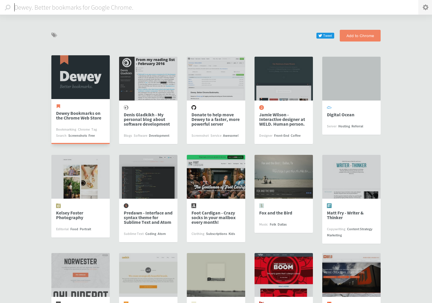 Dewey - Better bookmarks for Google Chrome | Product Hunt