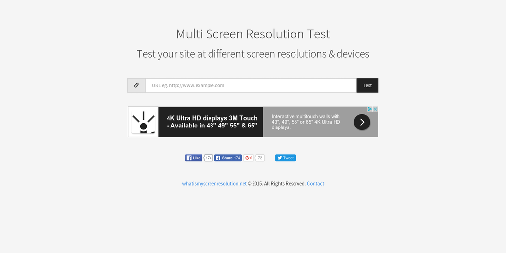 Multi Screen Test - Test your site at different screen