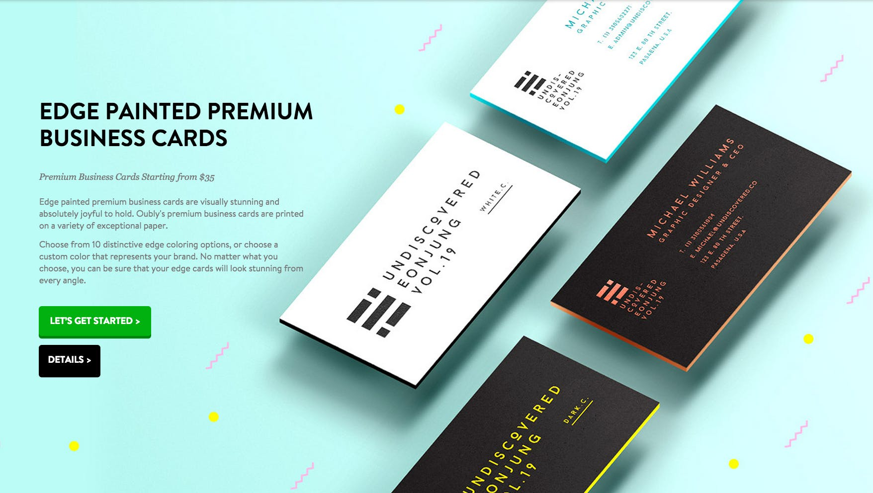 Oubly edge painted business cards product hunt reheart Image collections