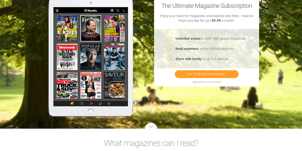 Readly - Netflix for magazines | Product Hunt
