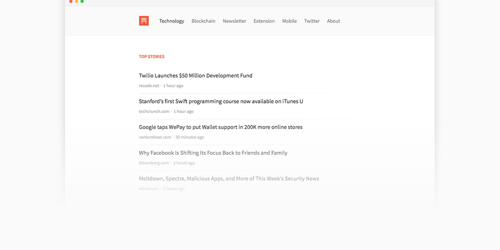 Morning Reader 2 - The easiest way to keep up with tech news