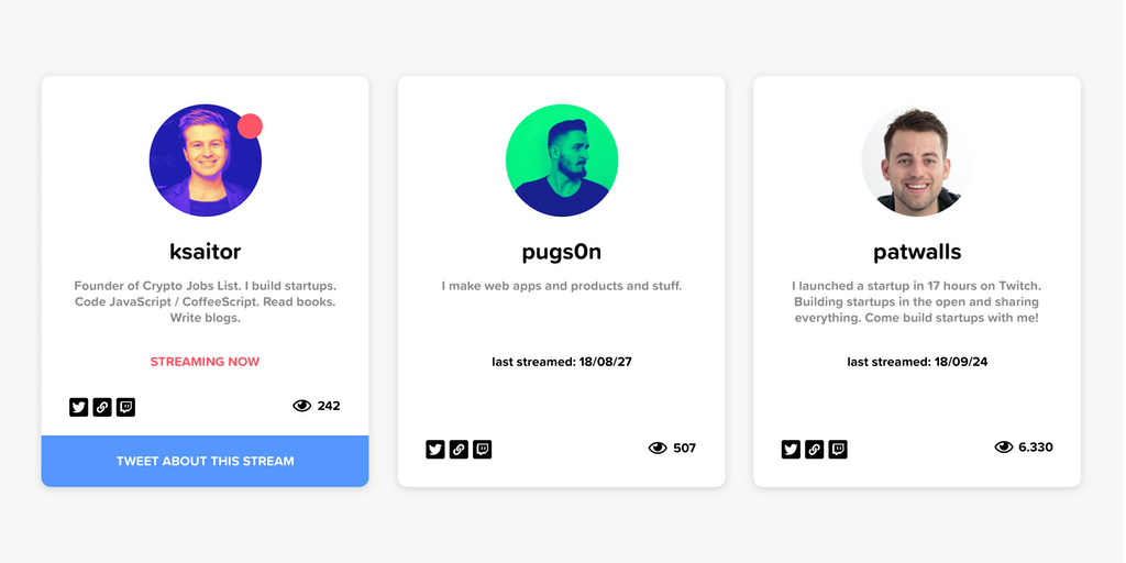 Shipstreams - A list of makers shipping live | Product Hunt
