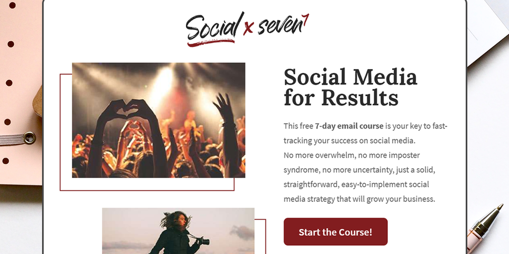 Social by Seven - Free 7-day email course to help you get results from social! | Product Hunt
